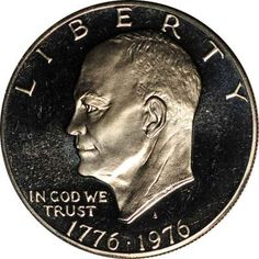 Ike Proof Silver Dollar, One of my favorites. It's collectible, beautiful and a commemorative.