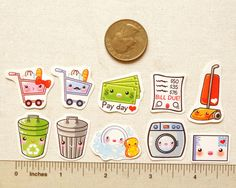 Cute Housework Planner Stickers: Kawaii Daily by BeagleCakesArt