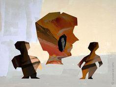 MARIO STRACK - Society 4 limitiert Grafik signiert  Bild Druck art Kunst Bilder