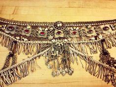 belt by Medina Maitreya for Gina Bruno - Turkoman piece Belly Dance Belt, Belly Dance Outfit, Belly Dance Costumes, Tribal Outfit, Tribal Costume, Tribal Fusion, Diy Bra, Tribal Belly Dance, Tiny Dancer