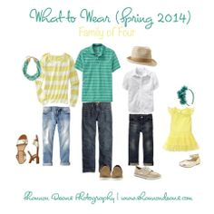 What to Wear (Spring Family of 4 Clothing Photography, Photography Guide, Family Photography, Family Photos What To Wear, Family Pictures, Spring 2014, Spring Summer Fashion, What To Wear Photoshoot, Family Picture Colors