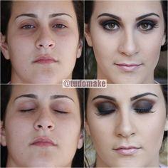 Tudo Make! - Antes e depois de maquiagem por Ariadne Cretella