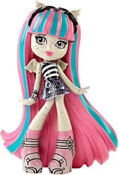 Monster High Vinyl Rochelle Figure. Now, favorite Monster High characters are available in a new, fangtastic vinyl form!. Each figure wears his or her signature outfit that fans will recognize from the character's original introduction. Dynamic poses capture their unique personalities. Uhhh-mazing details make collection and display monster fun!. Grab your favorite or collect them all (each sold separately).