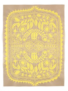 laikonik - Silk Screened Paper / Yellow Print