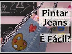 Pintura em tecido: Pintando no Jeans! É Fácil? Artes Mariana Santos - YouTube