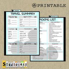 Printable dashboard / insert / divider for Disney vacations. Erin Condren weekly planner. https://www.etsy.com/listing/258584070/printable-disney-vacation-dashboard