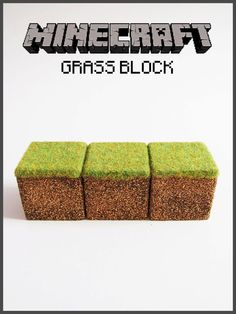 Minecraft Inspired Realistic Grass Block.
