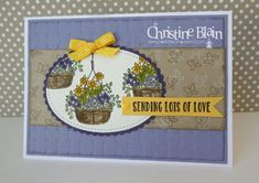 STAMPIN' UP! HANGING GARDEN IN PURPLES AND YELLOW