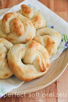 Perfect soft pretzels from The Baker Upstairs. Crisp and chewy on the outside, soft and lightly sweet on the inside. These pretzels are awesome! www.thebakerupstairs.com