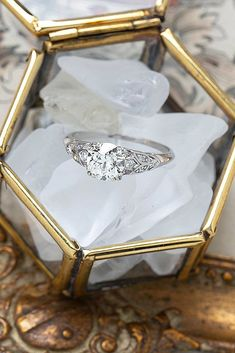 78 The Best Engagement Rings For Women In 2021 ❤ engagement rings for women diamond white gold vintage round cut #weddingforward #wedding #bride Thing 1, European Cut Diamonds, Art Deco Era, Diamond Engagement Rings, Fall Wedding, Diamond Cuts, Delicate, Antiques, Color