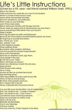 Easy things to do that will make your life and the lives of those around you better <3
