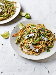 Veggie noodles with curried coconut sauce   Jamie Oliver