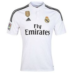 #Adidas real madrid home jersey 2014 fifa #world champions football soccer #shirt,  View more on the LINK: 	http://www.zeppy.io/product/gb/2/201586307580/