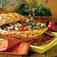 strawberry salad   Add a touch of whimsy to your next party with this clever serving bowl made from refrigerated breadsticks.