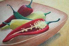 Paprika auf Öl