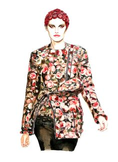 Illustration.Files: Givenchy F/W 2013 by Lidia Luna