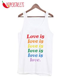 About Love is Love Tank Top This tank top is Made To Order, we print one by one so we can control the quality. Technology to print Love is Love Tank Top. Custom Tank Tops, New Tank, Worlds Of Fun, Cute Designs, Size Chart, Unisex, Amazing, Cotton, Black