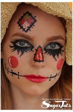 Scarecrow Face Paint, Scarecrow Halloween Makeup, Halloween Costumes Scarecrow, Halloween Look, Halloween Scarecrow, Halloween Makeup Looks, Scarecrow Ideas, Halloween Goodies, Halloween Projects