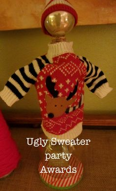 "Ugly sweater party awards Needing ideas for a FUN Ugly Christmas Sweater Party check out ""The How to Party In An Ugly Christmas Sweater"" at Amazon.com"