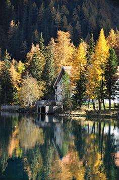 Anterselva lake, Italy