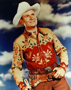Gene Autry, absolutely stunning embroidered western shirt!