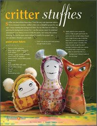 FREE E-BOOK!  Making Art Dolls: 4 Free Tutorials for Softies, Stuffies, and Art Doll Making