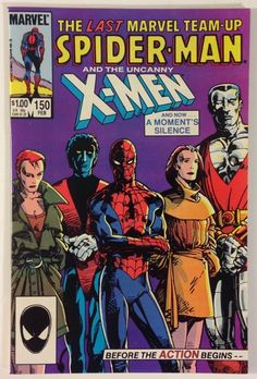 Marvel Team-Up #150 Final Issue - Spider-Man and The Uncanny X-Men VF/NM 9.0 – Marvel Comics 1985