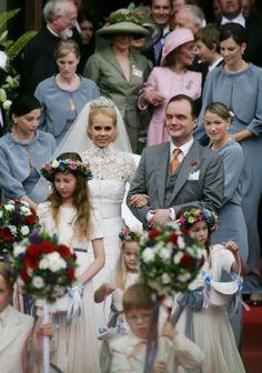 Prince Alexander zu Schaumburg Lippe and Nadja Anna Zsoeks wed on 30.06.007 in Bueckeburg, Germany.