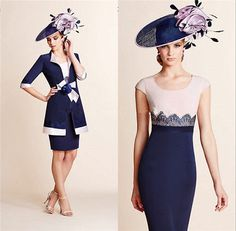 2016New Mother Of The Bride Dresses With Jacket Above Knee Wedding Guest Outfits