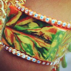 Hand painted bracelet by Creaz