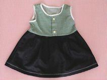 Kinderkleid - Karo - Jeans - Größe 104
