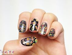 BASE COAT TOP COAT, STAINED GLASS #nail #nails #nailart WOW!!!!!!