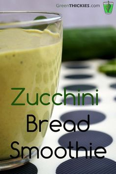 Who needs to pile on the pounds with Zucchini bread when you can have the most amazing Zucchini Bread Smoothie you'll ever taste!  (With 4 Options ranging from a fruity snack, green smoothie and a filling meal replacement smoothie there is something for everyone here) Click the link for the recipe: http://www.greenthickies.com/zucchini-bread-smoothie/ #zucchini bread smoothie