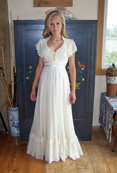 GUNNE SAX Dress 70s Meadow Maiden Maxi