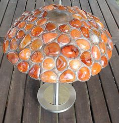 Stunning-Unique-Hand-Crafted-Carnelian-Gemstone-Table-Lamp