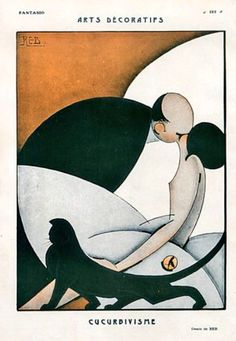 """""""The Kiss"""", 1925 by Fantasio   Reb  (very art deco)"""