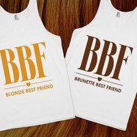 Blonde & Brunette Chic Best Friends Tanks | Skreened.com @Bryn Gomez we need these :)