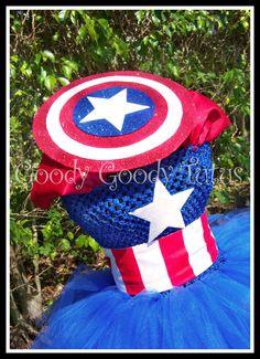 LITTLE LADY AMERICA Avengers Captain America Inspired Tutu Dress - Large 4-6t