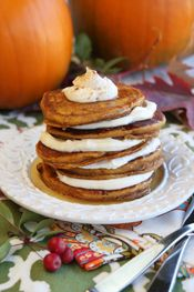 Pumpkin Roll Pancakes from Our Best Bites. I LOVE this site and have been really successful with most of the recipes.