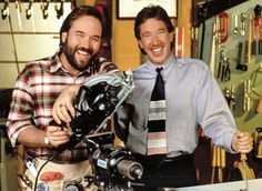 """Tim Allen as Tim the """"Tool Man"""" Taylor , and Richard Karn as Al in Home improvement"""