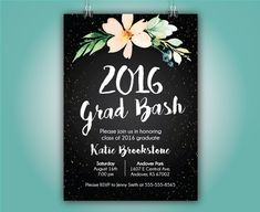 Graduation Announcement Grad Party 2016 Grad by SimpleandStunning2 This one is my favorite!!!
