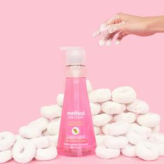 afternoon looking a little something like: buy powdered donuts, style them, snap a few pics, #cleanhappy with our dish pump. | photo by: lizzie darden. #stylebmyethod