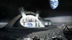Existe un proyecto de Norman Foster para un módulo lunar,