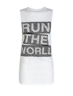 Show them who's boss as you pass them on the track in our White Sports Longline Run The World Tank Top. £8.99 #newlook #sportswear