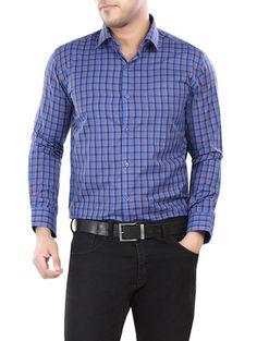 Blue Checkered Formal Shirt