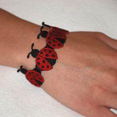 Ladybug Bead Bracelet
