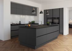 "a showstopper. What a showstopper.What a showstopper. What a showstopper. Design by ""For life"".Visualization by Ekaterina Domracheva. 45 Minimalist Kitchen Decor Ideas Decoration 60 Gorgeous Black Kitchen Ideas for Every Decorating Style Kitchen Room Design, Modern Kitchen Design, Home Decor Kitchen, Interior Design Kitchen, Kitchen Ideas, Nordic Kitchen, Interior Livingroom, Kitchen Trends, Diy Interior"