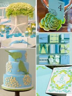 lovely mixed with lime green...