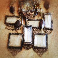 Old World Glass Pendants By In Small Spectacles Jewelry