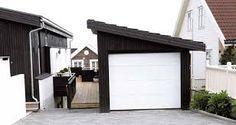 Garasje med pulttak